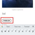 Кнопка «Publish» для публикации