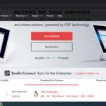 Скриншот страницы со ссылками для загрузки программы Resilio Sync для Windows, OS X, Linux, FreeBSD